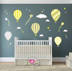 hot air balloon wall decals nursery