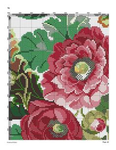 127579-37a18-43493015-m750x740-u9e717 (541x700, 206Kb) Cute Cross Stitch, Cross Stitch Rose, Cross Stitch Flowers, Cross Stitch Charts, Cross Stitch Patterns, Knitting Patterns, Magnolia Flower, Cutwork, Cross Stitching