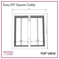 Free woodworking plans and tutorial to build a simple DIY square caddy with a handle. Great project for beginner woodworkers! Silverware Caddy, Plastic Silverware, Woodworking Plans, Woodworking Projects, Brad Nails, Wood Glue, Diy Desk, Desk Organization, Pallet Projects