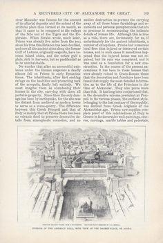 1901 Priene Greek Ionian City Alexander the Great vintage magazine article