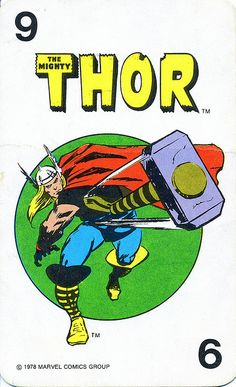 Marvel Comics Superheroes Game Card (1978)