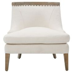 Check out this item at One Kings Lane! Sarah Chair, White 1700 (3000)
