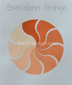 Chalk Paint® decorative paint by Annie Sloan ~ Barcelona Orange with varying amounts of Old White