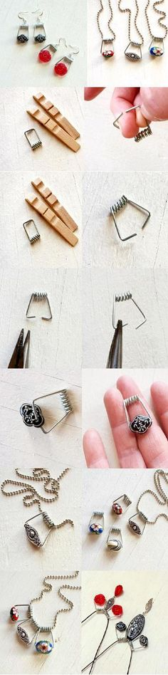 Good Ideas For You   DIY Clothespin Jewelry