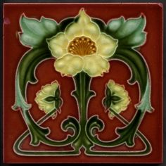 art nouveau tile