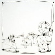 "Wire Drawing 3  (c) Barbara Gilhooly  annealed steel wire  24"" x 24"""