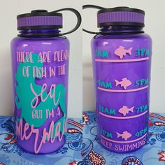 Custom Water Bottle, Custom Training Water Bottle, Gym Water Bottle, there are plenty of fish in the sea but I'm a mermaid water bottle Aluminum Water Bottles, Custom Water Bottles, Monogram Water Bottle, Cleaning With Bleach, Drinkware, Silhouette Cameo, Motivational, Cricut, Crafting