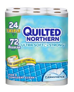 Quilted Northern Ultra Triple Bath Tissue Rolls, Soft and...