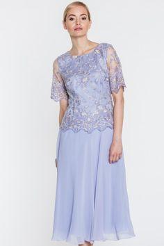 f329ce76f4 Szara sukienka w koronkową górą - Potis   Verso