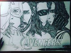 Desenho finalizado AVENGERS