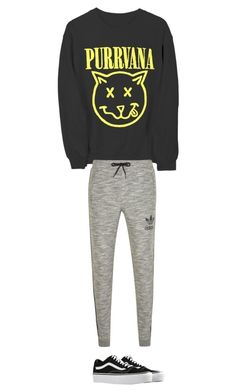 """Untitled #16"" by kennedy-lewis-1 on Polyvore featuring adidas Originals and Vans"