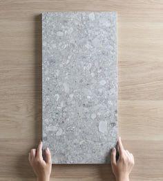 Stirling Terrazzo Look Grey Matt Tile Mdf Furniture, Rubber Tiles, Terrazo, Terrazzo Flooring, Stirling, Bathroom Interior Design, Washroom Design, Tile Design, Bathroom Inspiration