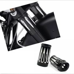 Black Deep Cut Fork Boot Slider Cover Cow Bells For Harley Touring Model 1986-14 #etaws_direct_sales