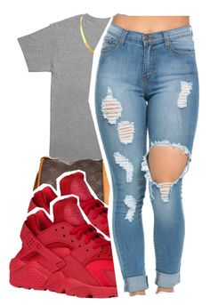 """3/16/16"" by lookatimani ❤ liked on Polyvore featuring October's Very Own and Louis Vuitton"
