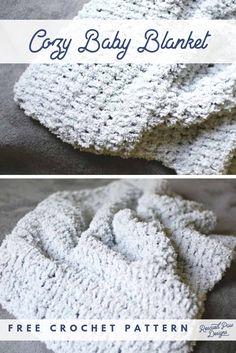 Easy Crochet Blanket Patterns for Beginners Make this cozy & quick crochet baby blanket for beginners. Free Baby Blanket Crochet Pattern by Re Easy Crochet Stitches, Crochet Baby Blanket Beginner, Free Baby Blanket Patterns, Beginner Crochet, Crochet Cozy, Quick Crochet, Free Crochet, Simple Crochet, Hand Crochet