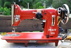Red Pfaff 130   OH MY GOODNESS......I just drooled on the keyboard.