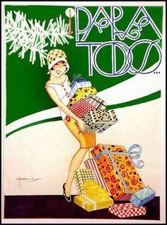 * Couverture du magazine brésilien PARA TODOS José Carlos de Brito e Cunha, connu comme J Carlos (1884 - 1950) dessinateur, illustrateur et graphiste brésilien considéré comme l'un des plus grands représentants du style art déco en design graphique brésilien.