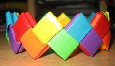 Rainbow Zig-Zag Duct Tape Bracelet