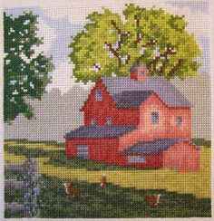Country Morning - cross stitch pattern designed by Thomas Beutel. Category: Architecture.