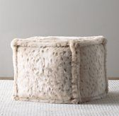 Luxe Faux Fur Square Pouf - for kitty