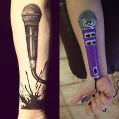 microphone tattoo - Google Search