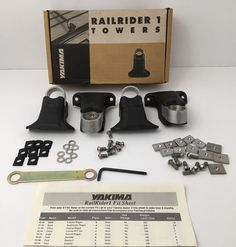 Yakima Railrider 1 Towers Set Of 4 Part 0201 Made In The USA #Yakima