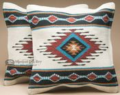 Pair Southwest Wool Pillow Covers -Laguna Style Pair of wool hand woven southwestern pillow covers with a traditional Native American design, to bring a rustic look to any room. This pair of southwest pillow covers features an outstanding Native In Southwestern Decorating, Southwest Decor, Southwest Style, Southwest Bedroom, Indian Theme, Indian Style, Native American Decor, Throw Pillow Covers, Throw Pillows