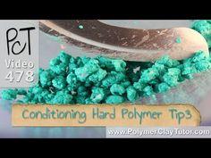 sandylandya@outlook.es  Conditioning Hard Polymer Clay Tip #3 - Food Processor - YouTube