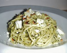 the Best Recipes: Pasta with Pesto, Feta & Pine Nuts