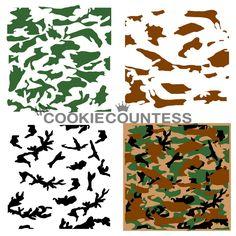 Flour Box Bakery — Three-Piece Camouflage Stencil