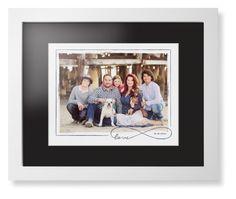 Love Infinity Border Framed Print, White, Contemporary, White, Black, Single piece, 11 x 14 inches, White