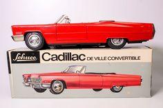 VINTAGE SCHUCO 5505 BATTERY OPERATED CADILLAC DE VILLE CONVERTIBLE W/BOX #SCHUCO #Cadillac