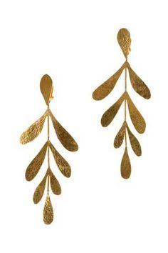 Boucle d'oreilles, feuilles en or #goldearrings