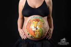 Bellypainting Lion King by Marilena Censi (photo Sara Paglioni)