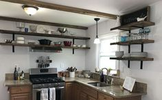 Open Shelving | Kitchen Makeover