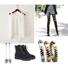 Punk look, created by yankykitty on Polyvore