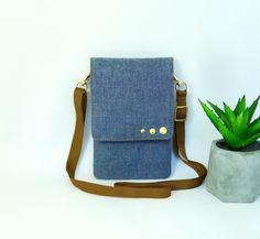 Denim Small Crossbody Bag Travel Bag for Phone Compact Carry Bag Blue Jean Purse Small Shoulder Bag Phone Cotton Bag Purse Cell Phone Wallet Blue Jean Purses, Cell Phone Wallet, Carry Bag, Small Crossbody Bag, Small Shoulder Bag, Little Bag, Cotton Bag, Blue Bags, Small Bags