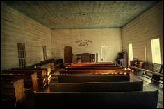 Antioch Church Interior~ Washington County, Ga.