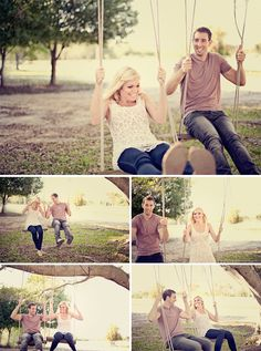 Who doesn't want a swinging engagement picture?! Come on.