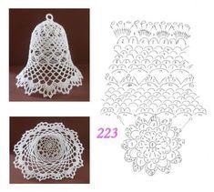 Crochet ideas that you'll love Crochet Snowflake Pattern, Crochet Lace Edging, Crochet Snowflakes, Crochet Diagram, Crochet Doilies, Crochet Flowers, Crochet Christmas Decorations, Crochet Christmas Ornaments, Christmas Crochet Patterns
