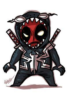 Little : Deadpool2 by ChickenzPunk.