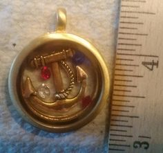 """Floating """"Anchor"""" for your floating charms locket ... email DNACustomJewelry@gmail.com"""