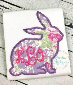 Bunny Rabbit Silhouette Applique