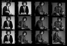 Jimi Hendrix contact sheet Photos by Gered Mankowitz Jimi Hendrix, Rock And Roll, Vintage Photography Women, Contact Sheet, Wall Of Sound, Stone Temple Pilots, The White Stripes, The Black Keys, Face Expressions