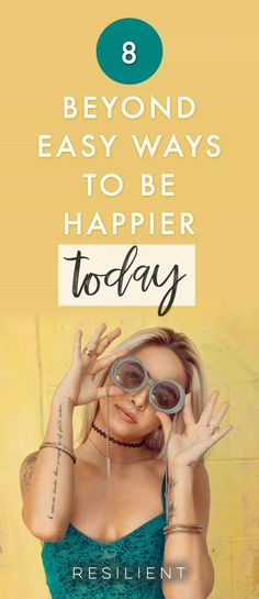 There are a few simple steps you can take today or this week to be happier right away. Of course, happiness is a long term journey, but you can start at any point. Here are 8 ways to be happier today. Inspirational Speeches, Motivational Speeches, Personal Development Books, Self Development, Happy Today, Happy Life, Live Happy, Recovering From Depression, Positive Outlook On Life