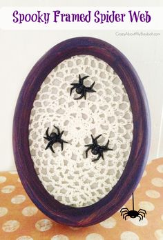 Spooky Framed Spider Web Halloween Craft