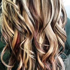 peekaboo highlights for brown hair - Google Search