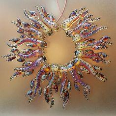 Deep Colors Sunset Corals - Handmade Lampwork Glass Beads (SRA)