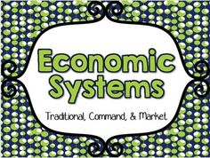Finally, a fun (and easy) way to teach some difficult economic concepts! This file on Economic Systems (Traditional, Market, and Command) is full of engaging, hands-on activities that will make your students understand those tough concepts. Traditional Market, Mixed Economy, Economic Systems, Content Area, Hands On Activities, World Cultures, School Days