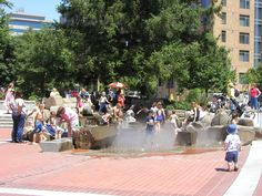 2013 Great Places in America: Public Spaces – Esther Short Park, Vancouver, Washington • Children play in a large fountain system that was constructed as part of the park's redevelopment. Photo courtesy Greg Turner. http://www.planning.org/greatplaces